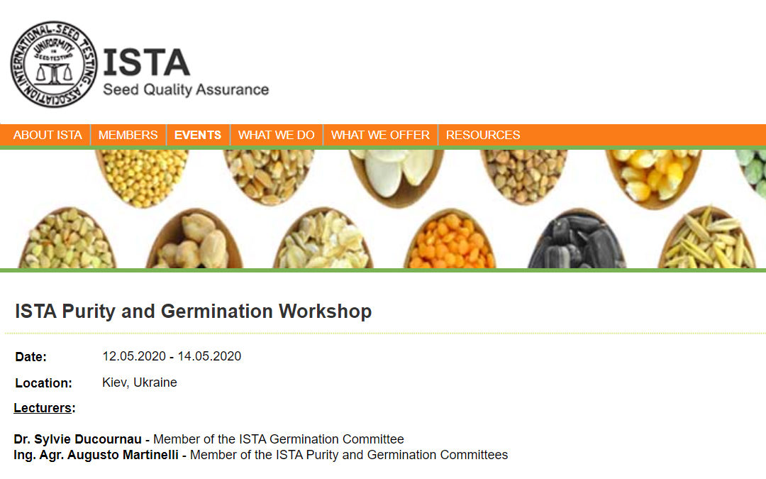 ISTA Purity and Germination Workshop